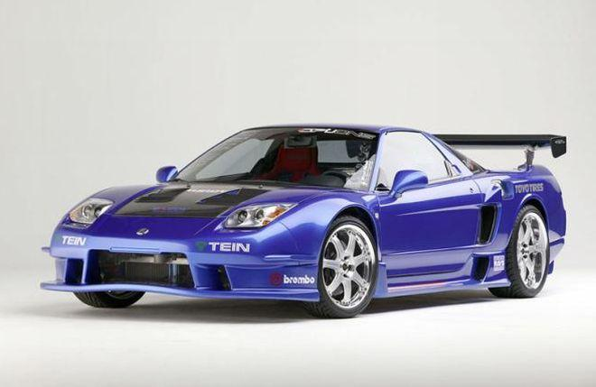 Front Left 2003 Acura NSX Racing Car Photo