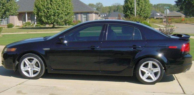 2005 black acura tl left side car picture old and new. Black Bedroom Furniture Sets. Home Design Ideas