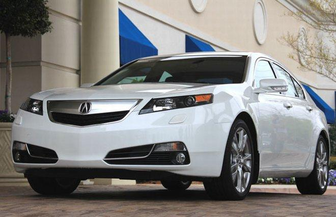 Front Left white 2012 Acura TL Car Picture
