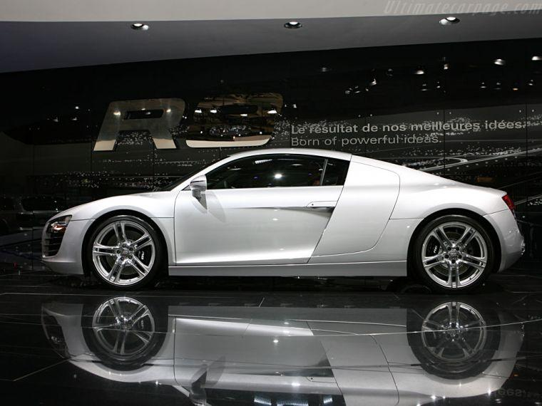 2007 White Audi R8 Left Side Car Picture  Old and New Car Pics