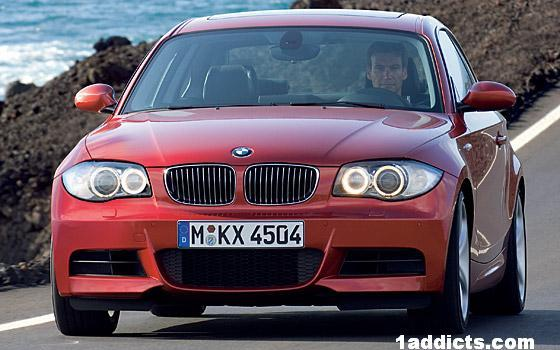 Front view red 2008 BMW 135i Car Picture