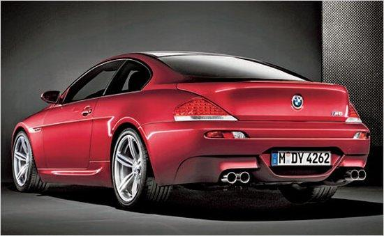 Left rear red 2007 BMW M6 Car Picture