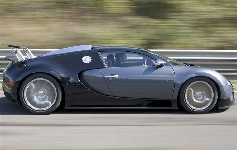 Right Side Gray 2006 Bugatti Veyron Car Picture