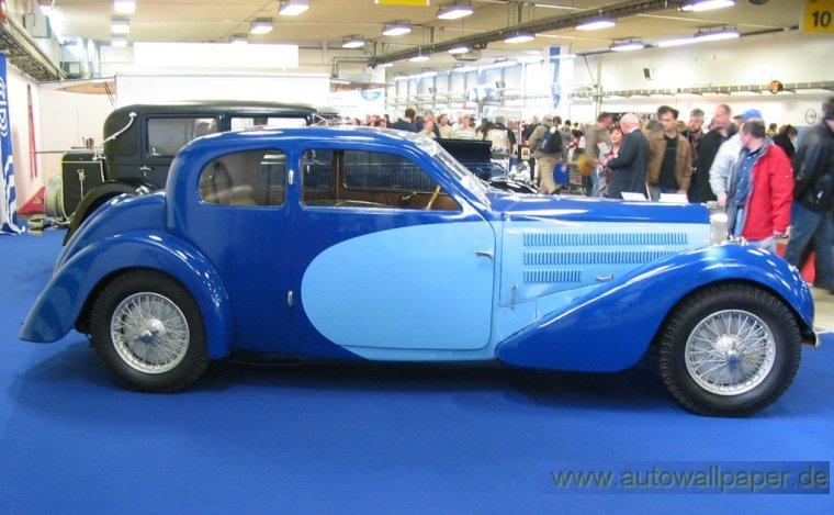 Right Side Bugatti T57 Coach Car Picture