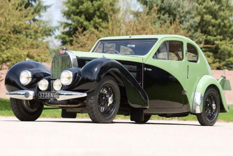 Left Front Bugatti T57 Aerodynamique Car Picture