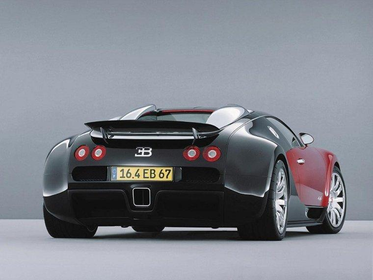Rear View Bugatti Veyron Car Picture