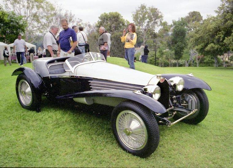 Front Right Bugatti T57 SPL Roadster Car Picture