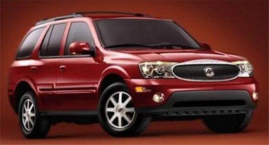 Front Right Red 2006 Buick Ranier SUV Picture