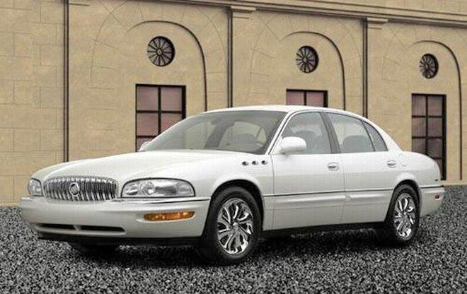 Front left White 2003 Buick Park Avenue Ultra Sedan Car Picture