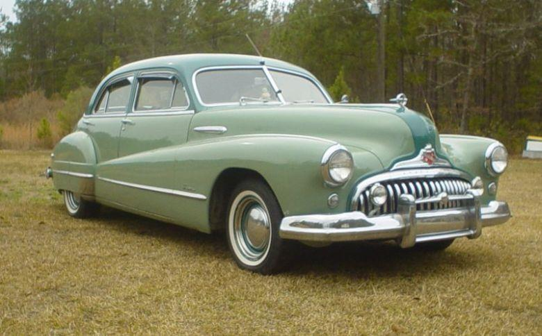 Front Right Green 1948 Buick Super 8 Car Picture