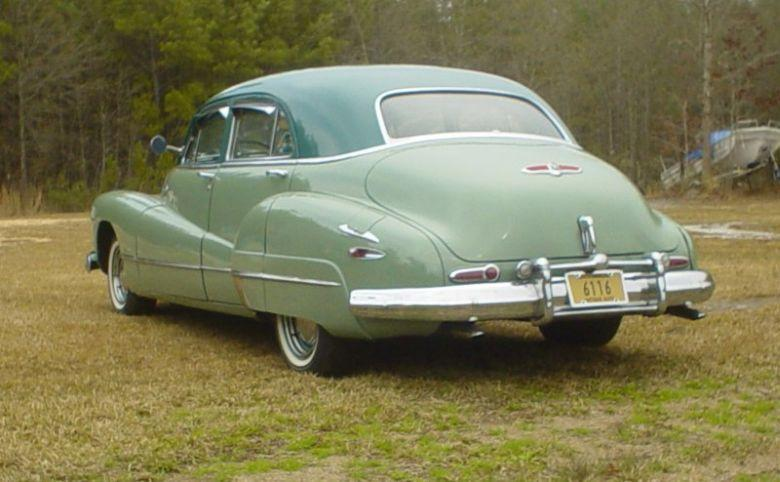 Rear Left Green 1948 Buick Super 8 Car Picture