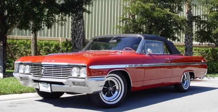 Front left Red 1964 Buick LeSabre Convertible Car Picture