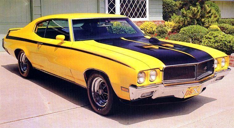Front Right Yellow 1970 Buick Skylark Gran Sport GSX Car Picture