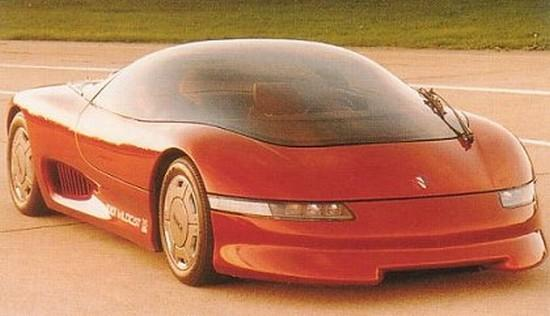 Front Right Orange 1985 Buick Wildcat Concept Car Picture