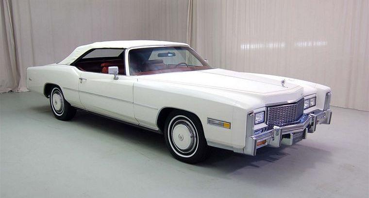 Front Right White 1976 Cadillac Eldorado CV Car Picture