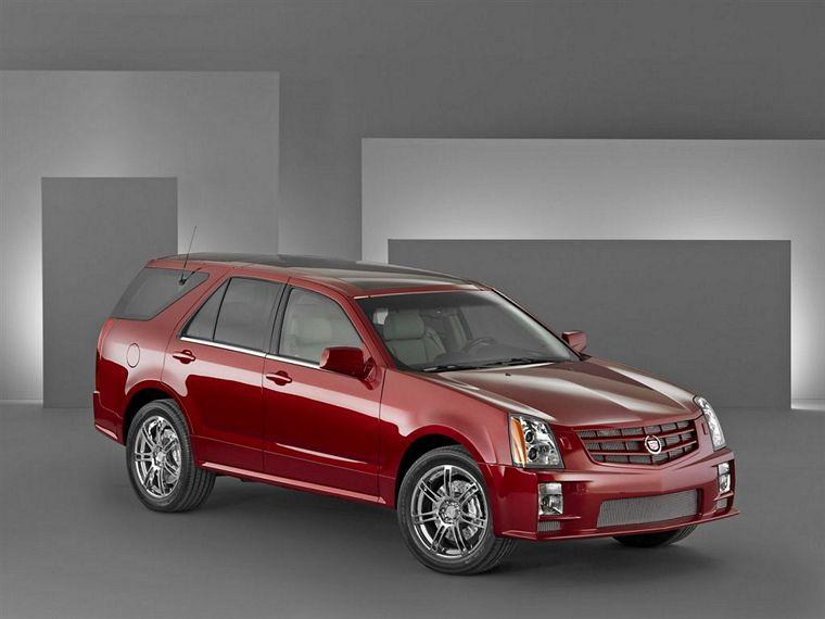 Front Right Red 2005 Cadillac SRX Sport SUV Picture