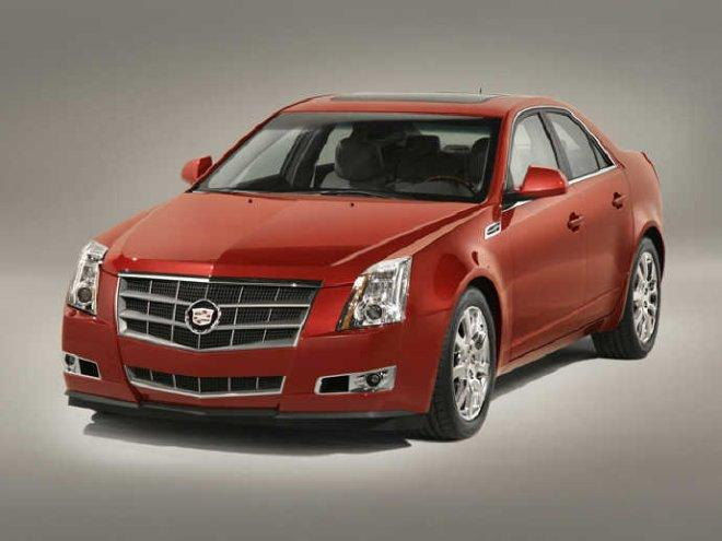 Front left Red 2008 Cadillac CTS Sedan Car Picture
