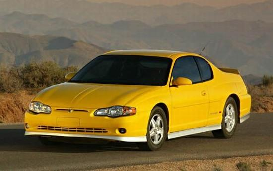 Front left Yellow 2004 Chevrolet Monte Carlo SS