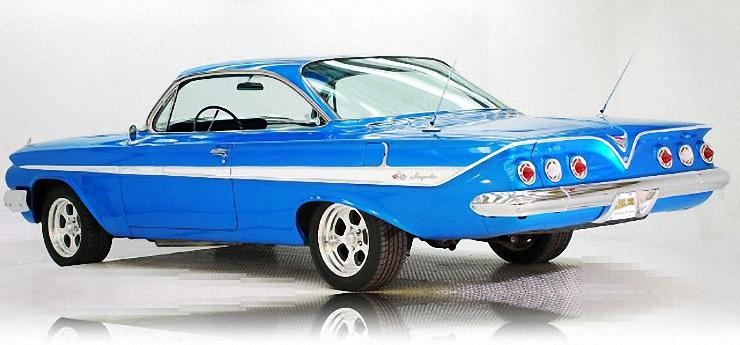 Rear Left 1961 Chevrolet Impala Car Picture