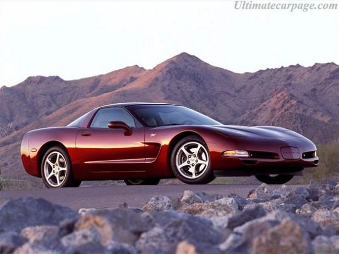 Front Right Maroon 2003 Chevrolet Corvette 50th anniversary Car Picture