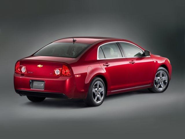 Right Rear Red 2010 Chevrolet Malibu Car Picture