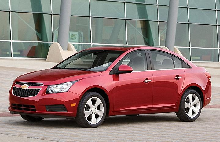Front left Red 2011 Chevrolet Cruze Car Picture