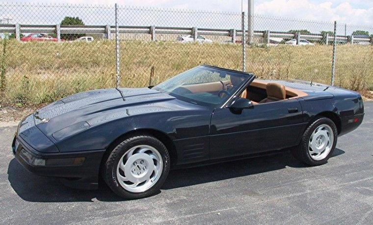 Front left Black 1991 Chevrolet Corvette Car Picture