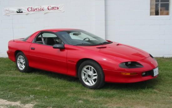 Front Right Red 1993 Chevrolet Camero Car Picture