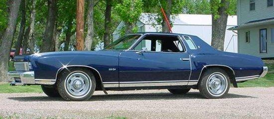 Left Side Blue 1973 Chevrolet Monte Carlo Car Picture