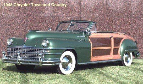 Front Left 1948 Chrysler Town and Country Convertible Car Picture