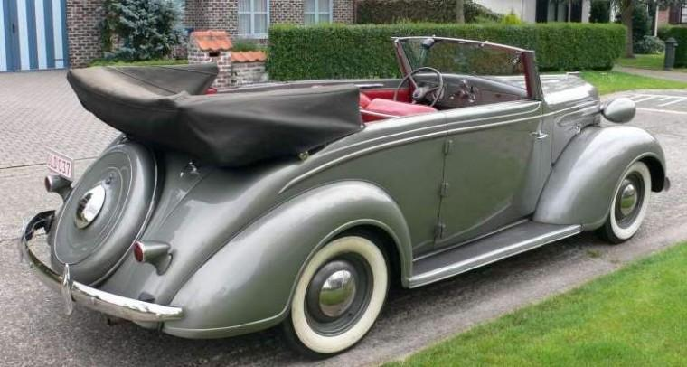 Rear Right 1937 Chrysler Plymouth Car Picture