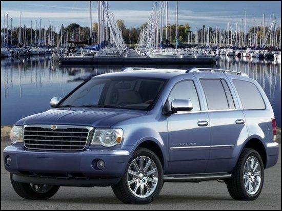 Front left Blue 2007 Chrysler Aspen Car Picture