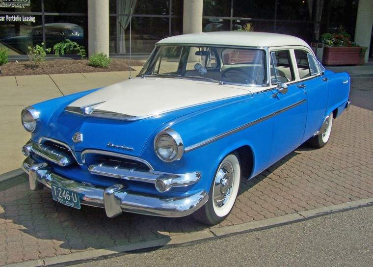 Front Left Two Tone 1955 Dodge Coronet Car Picture