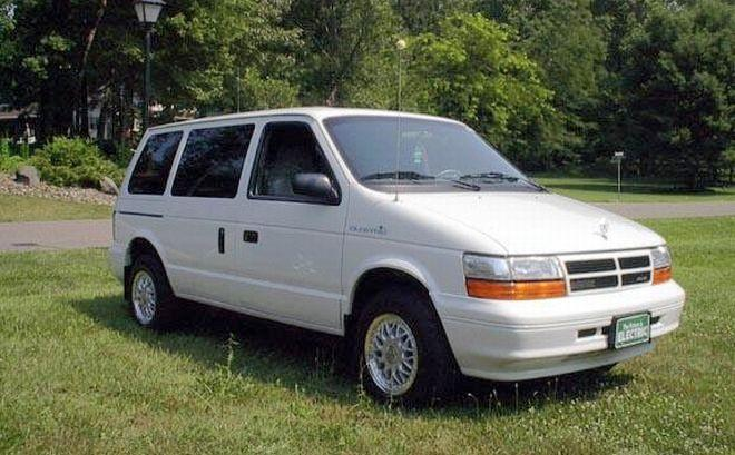 Front right white 1994 Dodge Caravan Minivan Picture