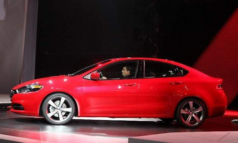 Left Side Red 2013 Dodge Dart Car Picture