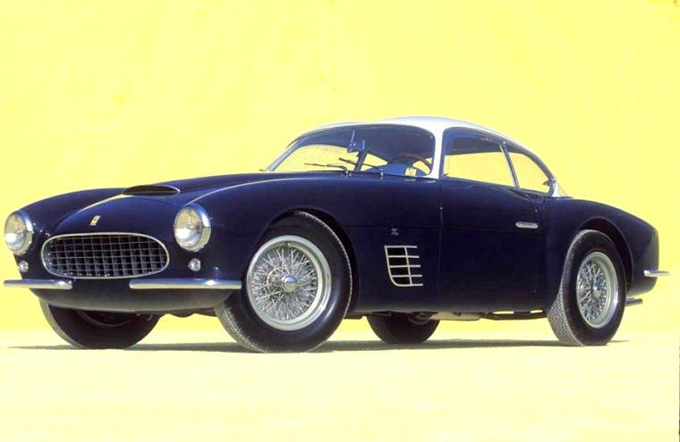 Front left Blue 1956 Ferrari 250 GT Zagato Car Picture