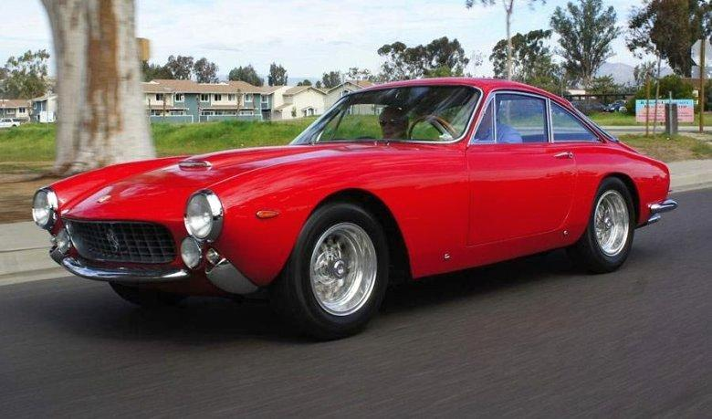 Front Left Red 1966 Ferrari 250 GT Car Picture