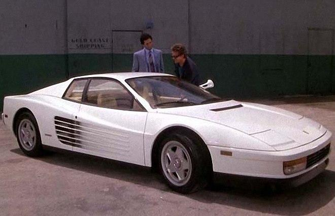 Front Right White 1986 Ferrari Testarossa Car Picture