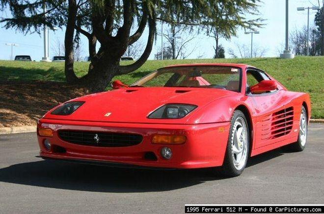Front Left 1995 Ferrari 512 M Car Picture