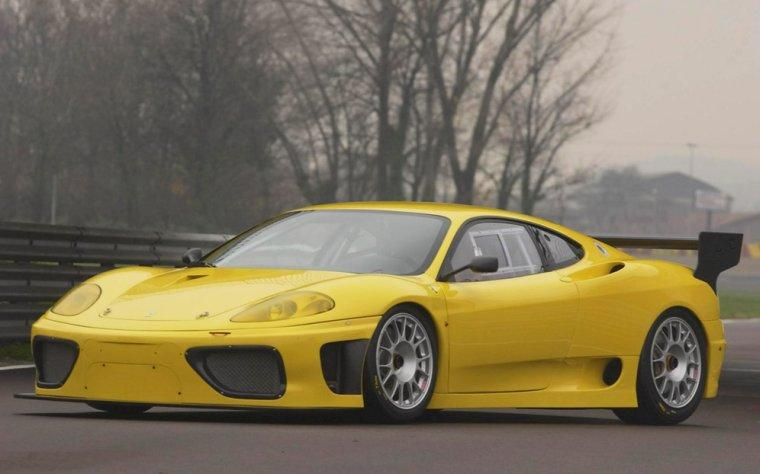 Front left Yellow 2004 Ferrari 360 GTC Car Picture
