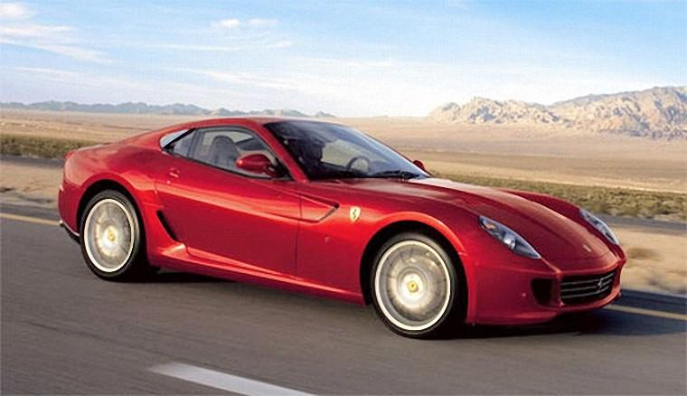 Front Right Red 2007 Ferrari 599 GTB Fiorano Car Picture