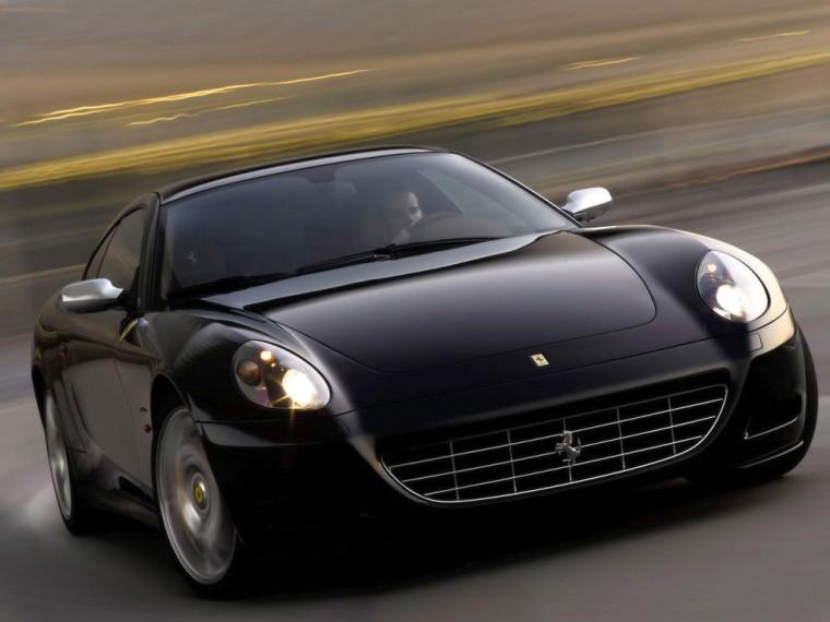 Front View Black 2008 Ferrari 612 Staglietti Car Picture
