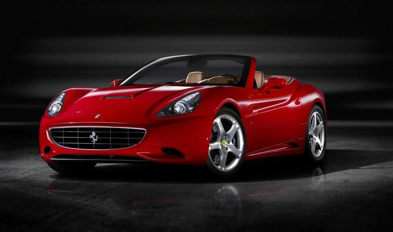 Presents a left front 2009 Ferrari California Convertible Car Picture