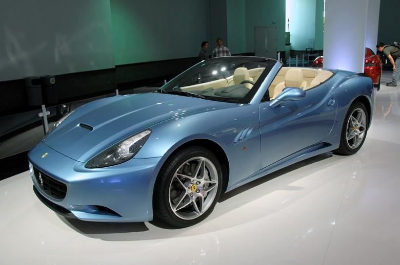 Front Left Blue 2010 Ferrari California Car Picture