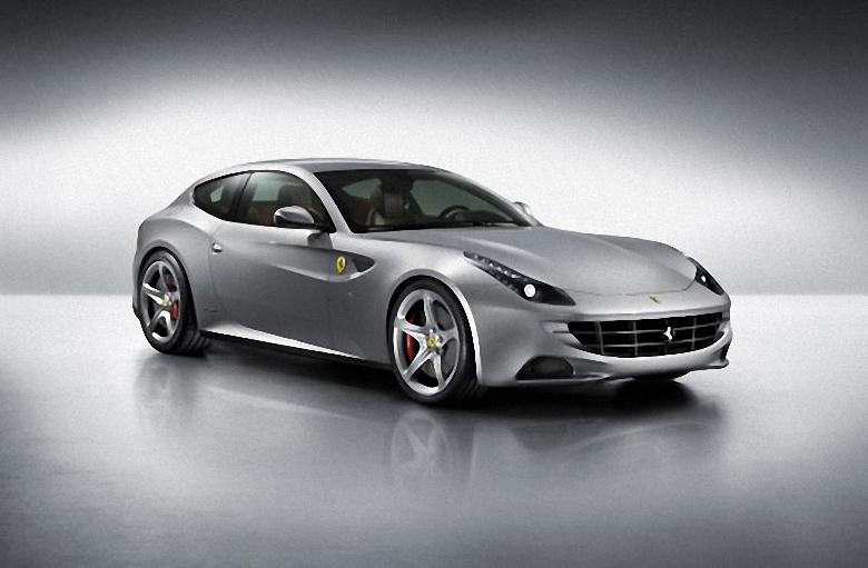 Front Right Silver 2012 Ferrari FF Car Picture