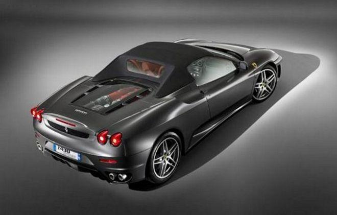 Rear Right Dark Gray Ferrari F430 Convertible Car Picture