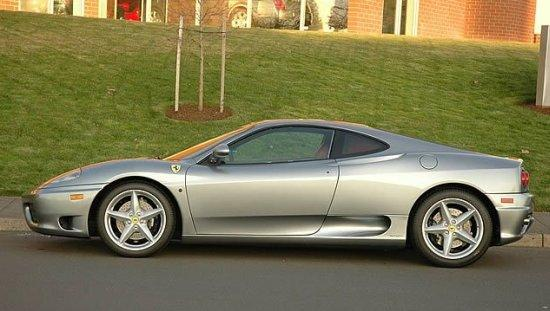 Left Side Silver 2001 Ferrari 360 Modena Car Picture