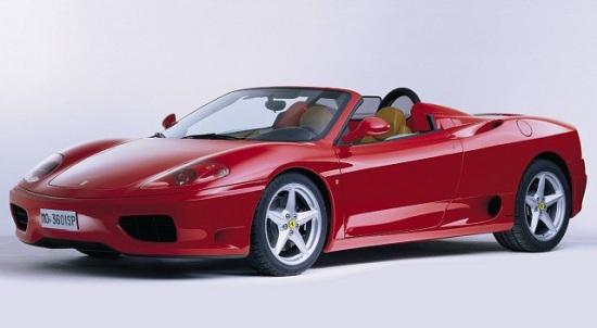 Front left Red 2001 Ferrari 360 Spider Car Picture