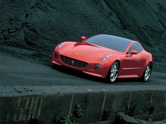 Front left Red 2005 Ferrari GG50 Concept Car Picture