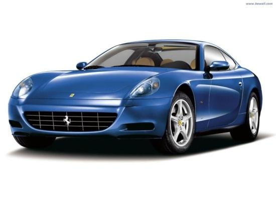 Front left Blue Ferrari F612 Car Picture